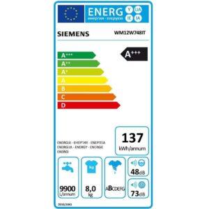 Siemens WM12W748IT- codice articolo 015